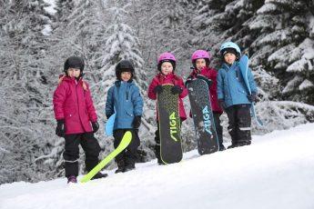 100 cm Snow Mattress Stiga Kinder Flyer JR Black Schneematte